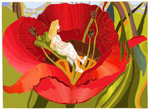 Thumbelina Illustrazione di Stock