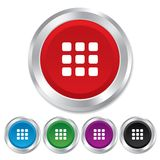 Thumbnails grid icon. Gallery view symbol. Stock Photo