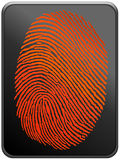 thumbprint Royaltyfria Bilder