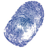 Thumbprint. Blue ink thumbprint on white background. Vector Illustration Stock Image