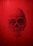 thumbprint Photographie stock