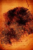 thumbprint Στοκ φωτογραφία με δικαίωμα ελεύθερης χρήσης
