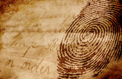 Thumbprint images libres de droits