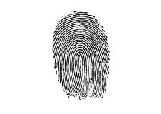 thumbprint Obrazy Royalty Free