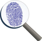 Thumbprint closeup Stock Photos