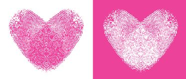 Thumbprint Hearts Royalty Free Stock Images