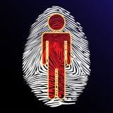 Thumbprint identity. Illustration thumbprint people as a symbol of identity Stock Photography