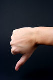 Thumbs Down. Hand in thumbs down sign Stock Image