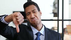Thumbs Down by Black Businessman stock video footage