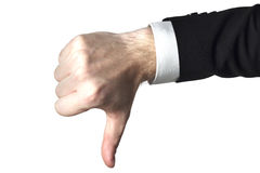 Thumbs down businessman Stock Images