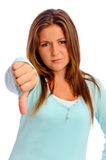 Thumbs Down Girl Stock Images