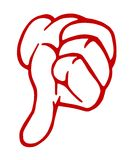 Thumbs down hand sign Stock Image