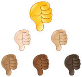 Thumbs down hand sign emoji Stock Images