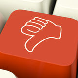 Thumbs Down Icon Computer Key Showing Dislike Failure And False Royalty Free Stock Photo