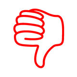 Thumbs down. A red thumbs down image royalty free illustration