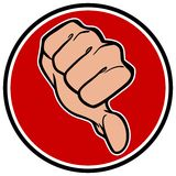 Thumbs Down Symbol. A vector illustration of a Thumbs Down Symbol Royalty Free Stock Image