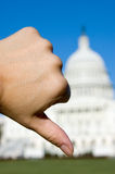 Thumbs down Washington Royalty Free Stock Image