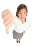 Thumbs down woman Royalty Free Stock Photos