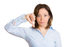 Thumbs down woman Royalty Free Stock Photo