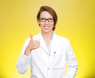 Thumbs healthcare professional Royalty Free Stock Photo