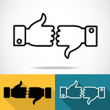 Thumbs icons Royalty Free Stock Images
