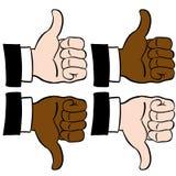 Thumbs Set Royalty Free Stock Photos