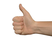 Thumbs up. With white background Stock Photos