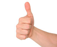 Thumbs up!. Isolated fist with thumbs up Royalty Free Stock Photo
