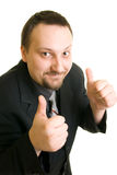 Thumbs up. Close up of a young successful businessman thumbs up Royalty Free Stock Photos