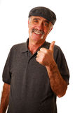 Thumbs up. Man giving the thumbs up isolated on white Stock Photography