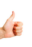 Thumbs up. A thumbs up on a white background Stock Photos