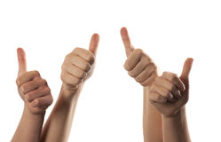 Thumbs up Stock Images