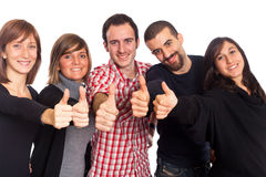Thumbs Up. Happy Young Adult People with Thumbs Up Stock Photos