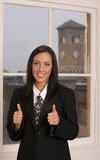 Thumbs Up Business Woman Office Employee Royalty Free Stock Photography