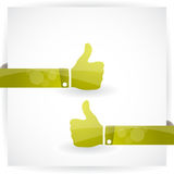 Thumbs up. Vector web element Royalty Free Stock Images