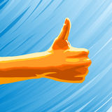 Thumbs up. Concept illustration - a hand making a thumbs up gesture Stock Images