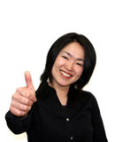 Thumbs up. Woman with thumbs up Stock Image