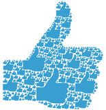 Thumbs Up. Collage graphic hand stock illustration