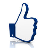 Thumbs up. 3D Rendered icon of a hand with the thumb up Stock Photography