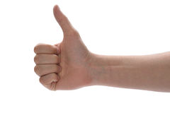 Thumbs up!. Hand showing a thumbs up Royalty Free Stock Photo