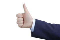 Thumbs up. Against white background Royalty Free Stock Image