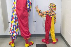 Thumbs Up!. Picture of a child clown giving the thumbs up Royalty Free Stock Photography