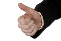 Thumbs Up. Sign. Man Hand Royalty Free Stock Images