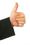 Thumbs up. ! , File have Clipping path stock photography