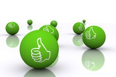 Thumbs Up. Concept 3d Rendered Image Royalty Free Stock Photography