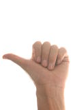 Thumbs up. Human thumbs up isolated on white background Stock Image