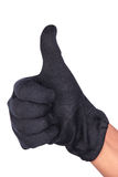 Thumbs up. Thumb up symbol with clipping path Stock Image