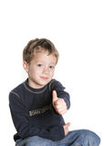 Thumbs up. 4 year old boy giving a thumbs up Royalty Free Stock Photography