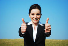 Thumbs up! Royalty Free Stock Photos