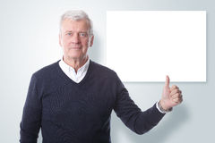 Thumbs up and add your own message royalty free stock images